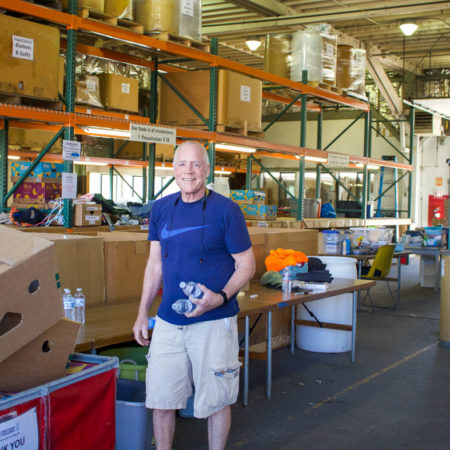 Mike - R3 Member helping in the Donation Warehouse